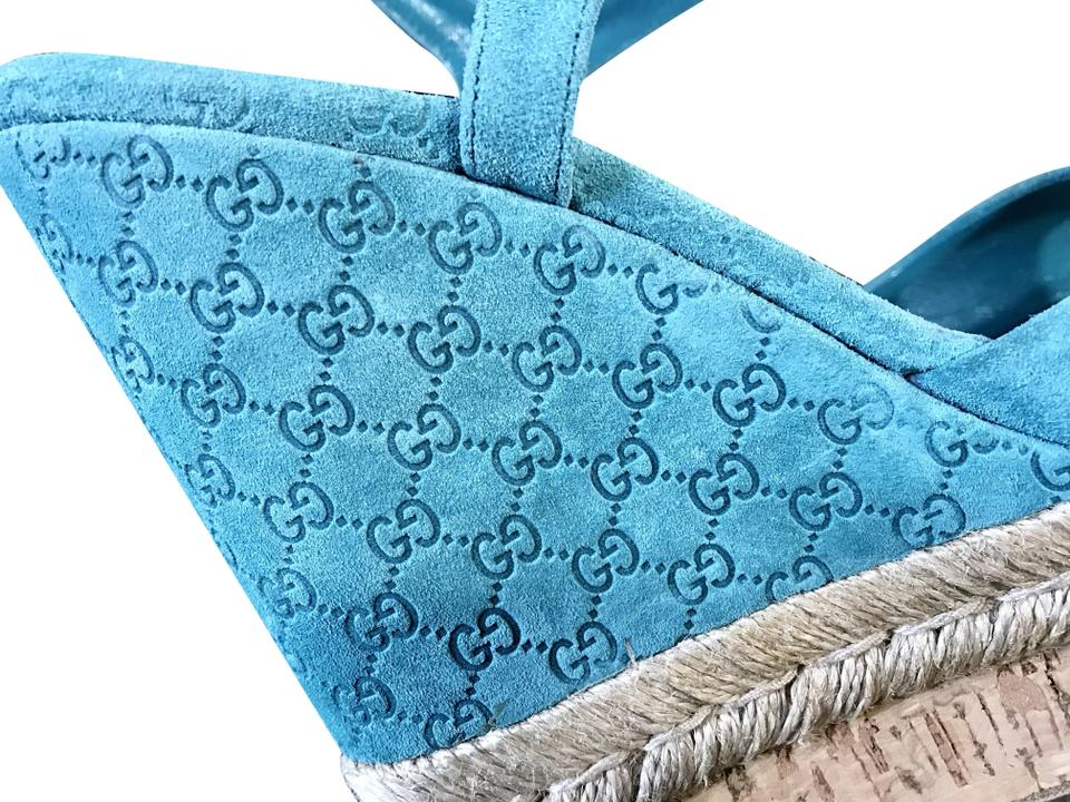 8dc36cd29f3 Gucci Turquoise Hollie Sandals Size EU 35 (Approx. US 5) Regular (M ...