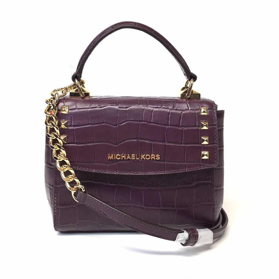 caba560de4ed Michael Kors Karla Mini Convertible Top Handle Damson Purple ...