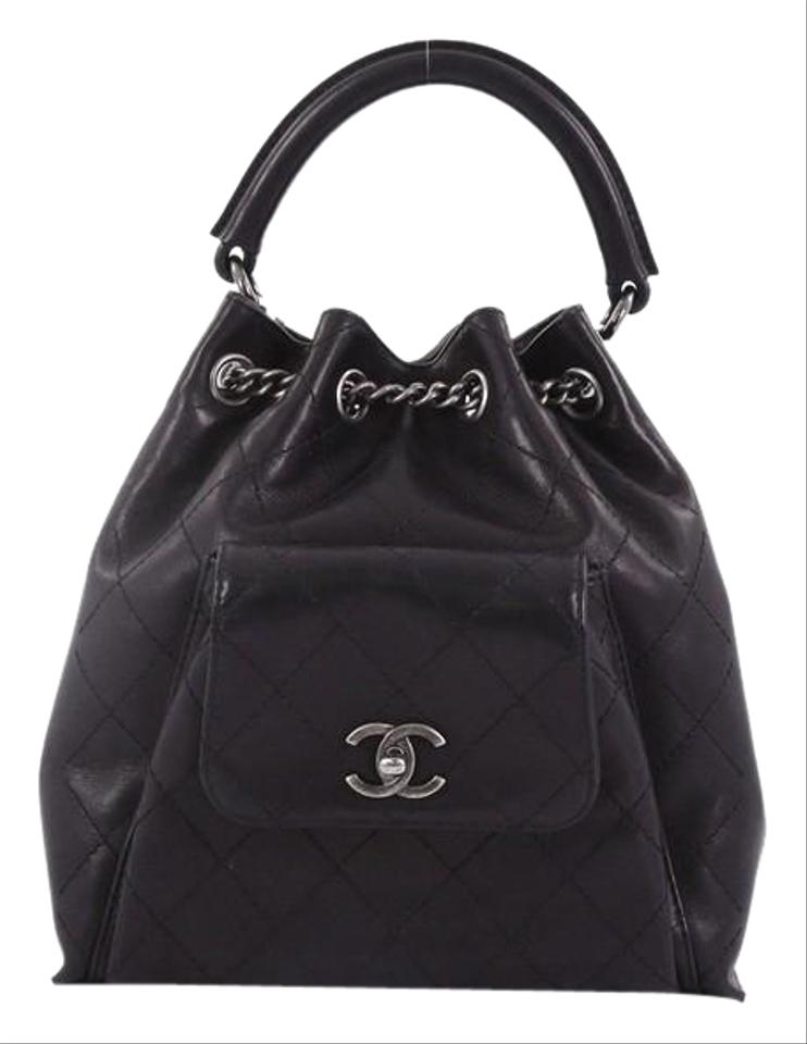 ce9a4623b9ac Chanel Backpack Urban Luxury Quilted Medium Black Calfskin Leather ...