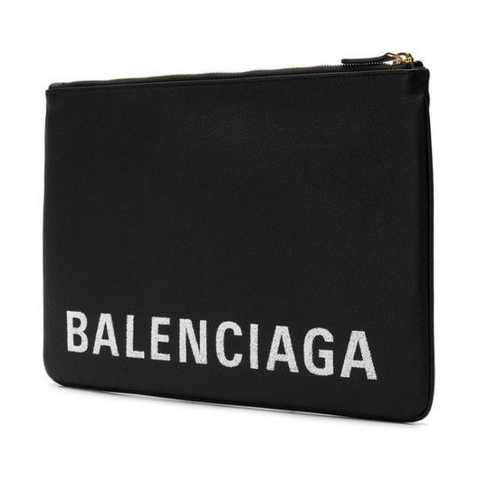 Balenciaga Pouch Leather Pouch black Clutch Image 1