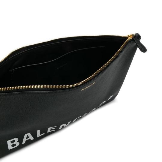 Balenciaga Pouch Leather Pouch black Clutch Image 3