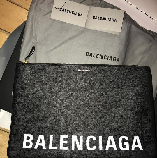 Balenciaga Pouch Leather Pouch black Clutch Image 4