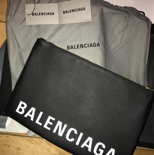 Balenciaga Pouch Leather Pouch black Clutch Image 5