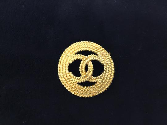 Chanel Vintage rope cutout CC broche Image 1