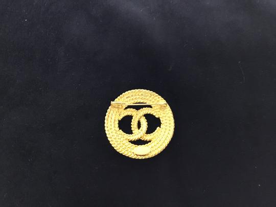 Chanel Vintage rope cutout CC broche Image 2