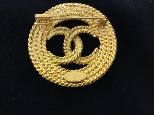 Chanel Vintage rope cutout CC broche Image 3