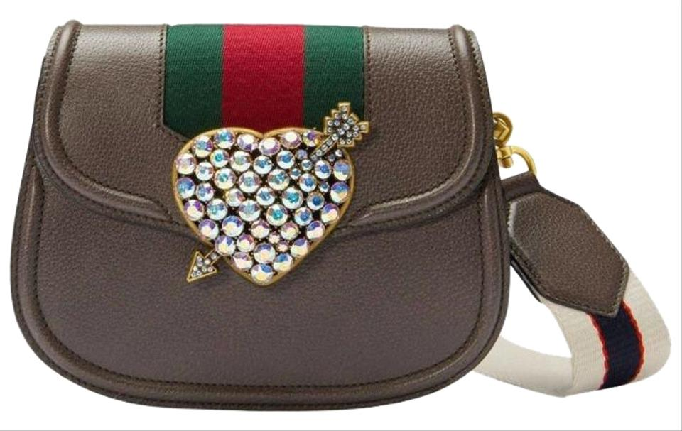 4067f359726 Gucci Totem Small Brown Leather Cross Body Bag - Tradesy