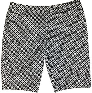White House | Black Market Dress Shorts White Black