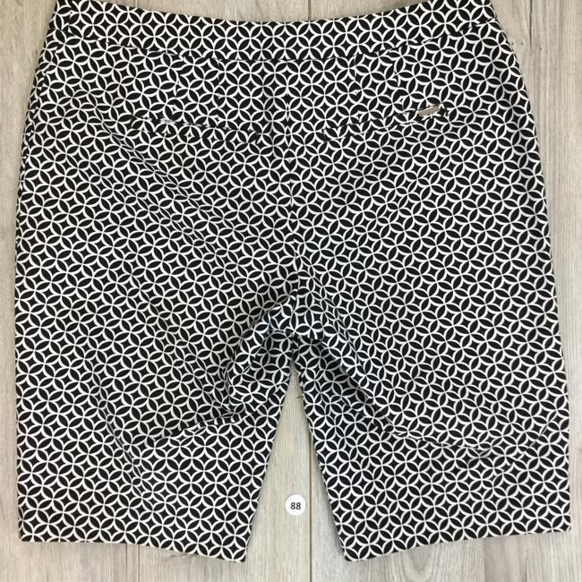 White House | Black Market Dress Shorts White Black Image 1