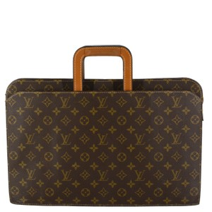 Louis Vuitton Vintage Monogram Canvas Leather Classic Messenger Bag