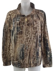 St. John Animal Print Brown Blazer