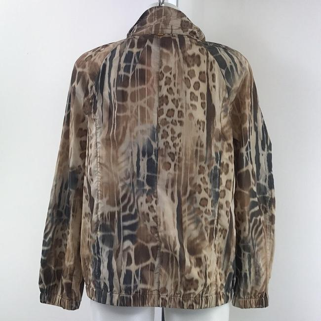 St. John Animal Print Brown Blazer Image 1