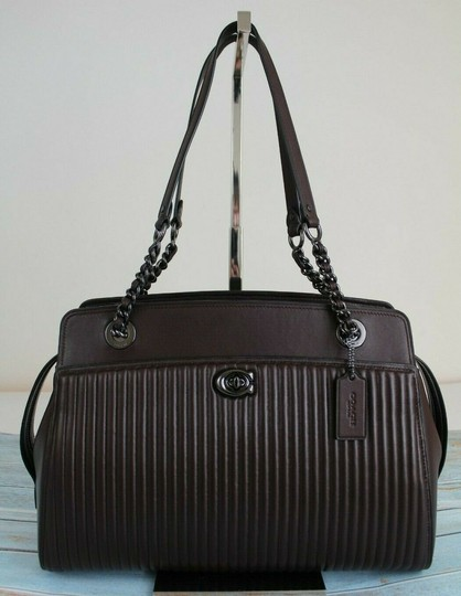 Coach Tote in Oxblood/Gunmetal Image 3