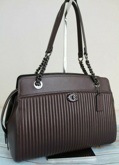 Coach Tote in Oxblood/Gunmetal Image 5