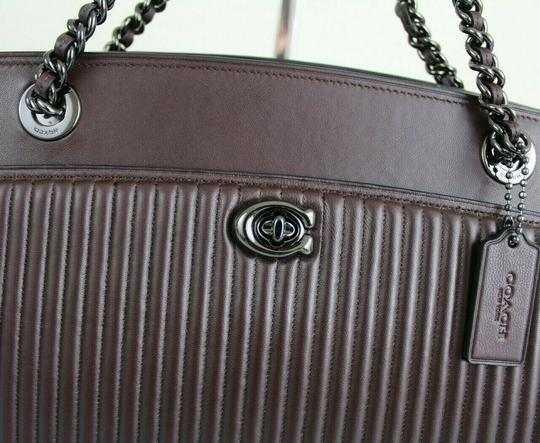 Coach Tote in Oxblood/Gunmetal Image 9