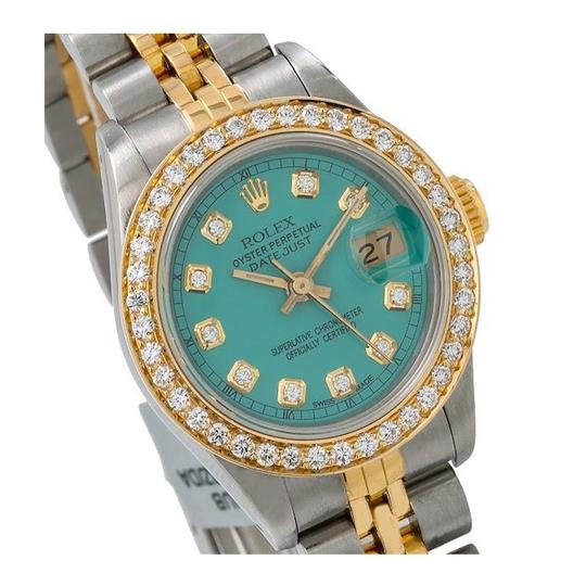 Rolex ROLEX LADY-DATEJUST 69173 26MM GREEN DIAMOND DIAL WITH 0.90 CT DIAMOND Image 2
