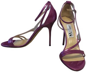Jimmy Choo New Heels Open Toe Purple Sandals