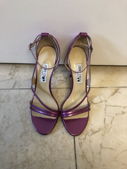 Jimmy Choo New Heels Open Toe Purple Sandals Image 2