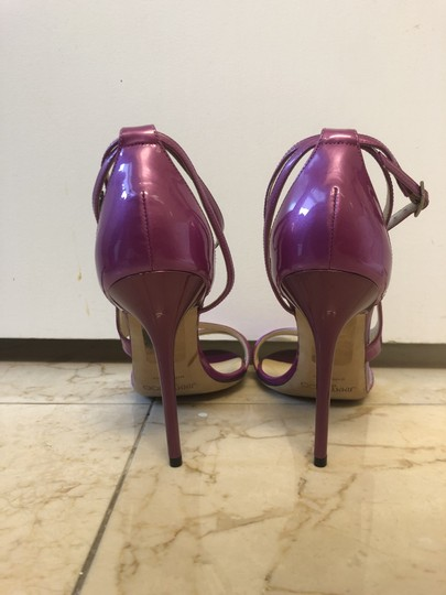 Jimmy Choo New Heels Open Toe Purple Sandals Image 3