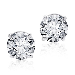 Avital & Co Jewelry 1.08 Carat Round Cut Diamond Stud Earrings F-G/VS2, SI1