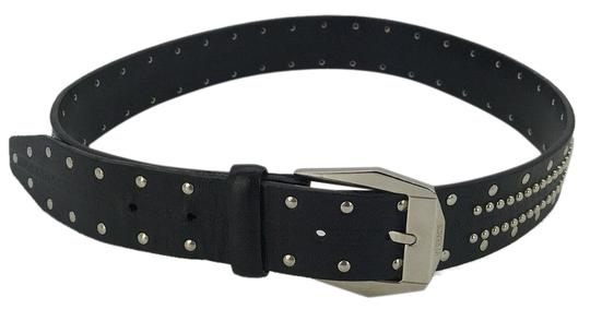 Preload https://img-static.tradesy.com/item/25030430/versace-black-leather-and-silver-studded-size-7530-belt-0-1-540-540.jpg
