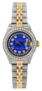 Rolex ROLEX LADY-DATEJUST 69173 26MM BLUE DIAMOND DIAL WITH 1.05 CT DIAMONDS
