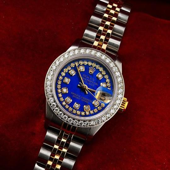 Rolex ROLEX LADY-DATEJUST 69173 26MM BLUE DIAMOND DIAL WITH 1.05 CT DIAMONDS Image 1