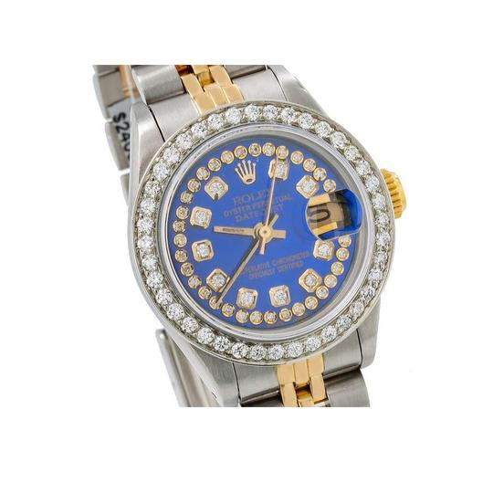 Rolex ROLEX LADY-DATEJUST 69173 26MM BLUE DIAMOND DIAL WITH 1.05 CT DIAMONDS Image 2