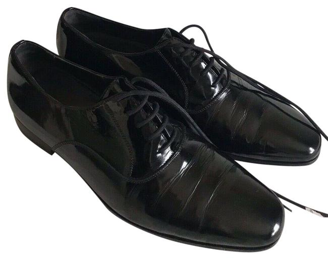 Item - Black Smooth Leather Lace-up Oxfords Formal Shoes Size US 7.5 Regular (M, B)