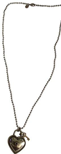 Preload https://img-static.tradesy.com/item/25030471/tiffany-and-co-silver-and-company-heart-padlock-and-beaded-chain-necklace-0-1-540-540.jpg