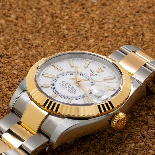 Rolex ROLEX SKY-DWELLER 326933 42MM WHITE DIAL WITH TWO TONE BRACELET Image 1