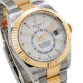 Rolex ROLEX SKY-DWELLER 326933 42MM WHITE DIAL WITH TWO TONE BRACELET Image 2