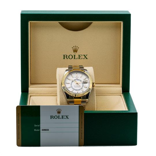 Rolex ROLEX SKY-DWELLER 326933 42MM WHITE DIAL WITH TWO TONE BRACELET Image 5