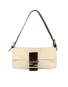 Fendi Ff Monogram Canvas Shoulder Bag