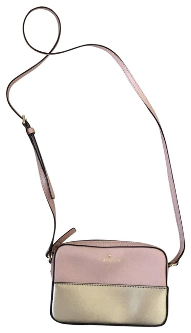 Item - Pink/ Gold Leather Cross Body Bag