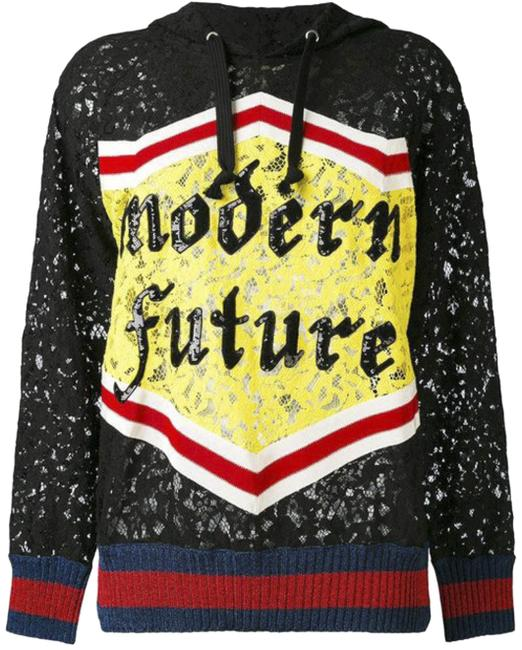 Preload https://img-static.tradesy.com/item/25030892/gucci-black-red-yellow-blue-2018-gg-web-modern-future-logo-lace-sweater-large-sweatshirthoodie-size-0-1-650-650.jpg