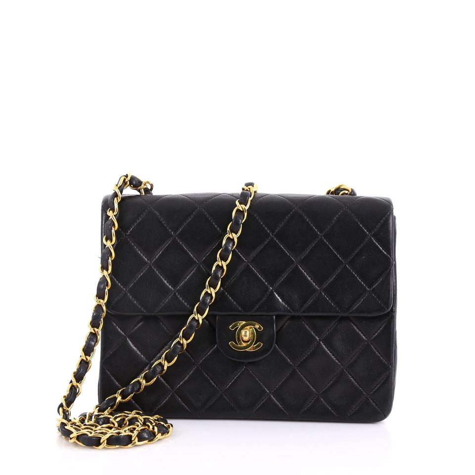 fc886ac08517 Chanel Classic Flap Vintage Square Cc Quilted Small Black Leather ...