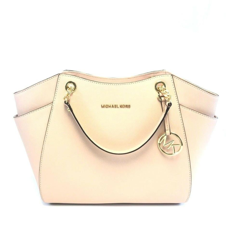 cd20b091aa1d1c Michael Kors Women's Jet Set Large Chain Shoulder To Pink Leather Tote
