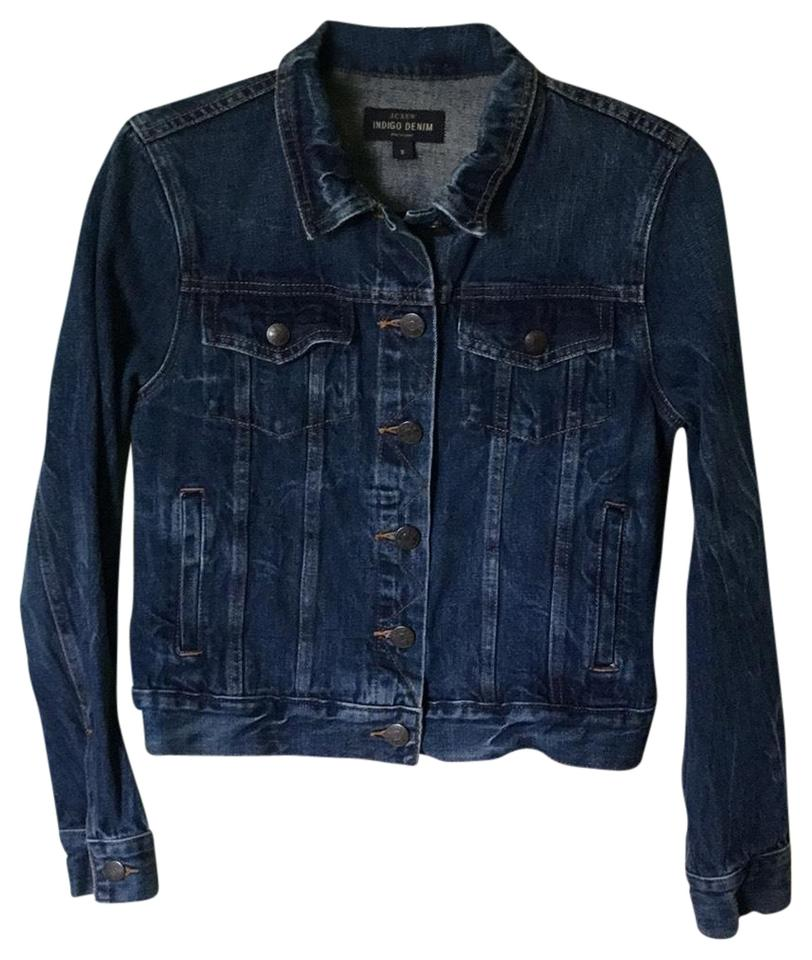 matching in colour most fashionable meticulous dyeing processes Indigo Jean Jacket