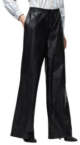 FRAME High Rise Distressed Blue Casual Trouser/Wide Leg Jeans-Coated