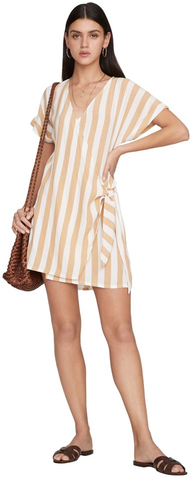 8ff33848e22d Faithfull the Brand Lotta Striped Wrap Tie Short Casual Dress Size 2 ...