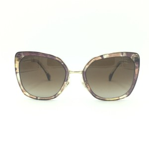 9d1cf40fd88f2 Chanel Brown   Gold Butterfly Polarized Sunglasses 4209 463 S9