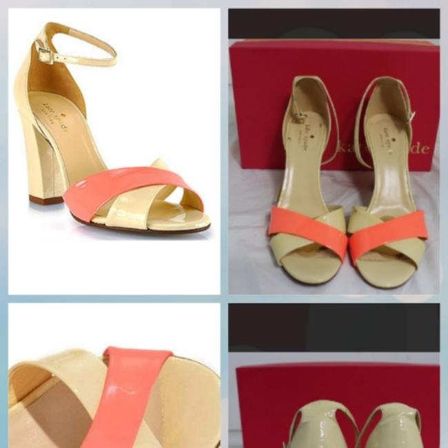 Kate Spade Coral and Cream Isabel Sandals Size US 9 Regular (M, B) Kate Spade Coral and Cream Isabel Sandals Size US 9 Regular (M, B) Image 1