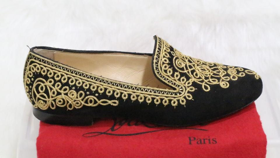 grand choix de 400fd b61aa Christian Louboutin Black Sakouette Maroc Suede Flats Size EU 39 (Approx.  US 9) Regular (M, B) 49% off retail