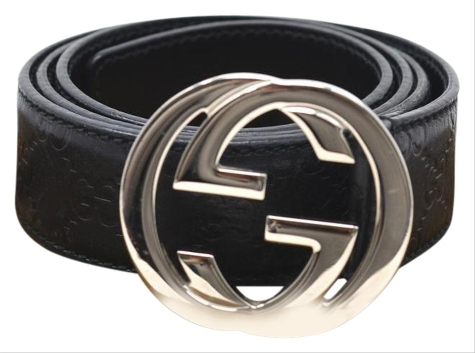 38df52d61 Gucci Black Gg Signature Leather Men's Belt - Tradesy