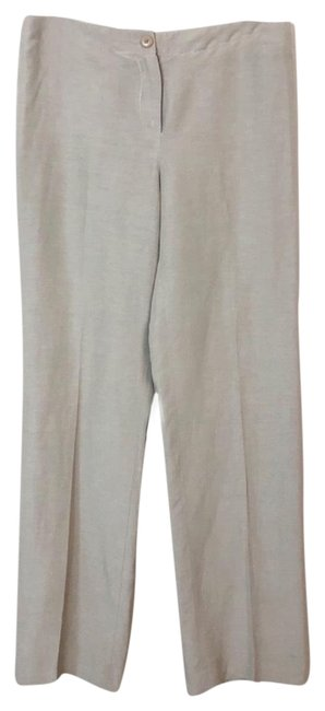 Item - Khaki Linen and Silk Trousers Pants Size 8 (M, 29, 30)