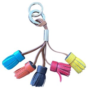 Burberry Burberry multi-colored fringe keychain