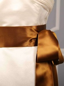 Antique Gold Brown Ribbon Sash Sashes