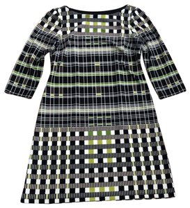 London Times short dress Black, Lime, and White on Tradesy