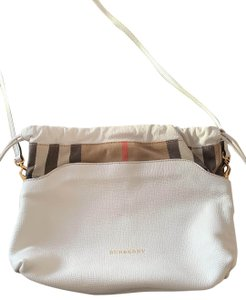 Burberry white with Burberry pattern Messenger Bag